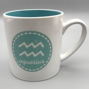 "Oversized Zodiac Coffee Mug ""Aquarius"""